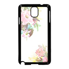 Vintage Watercolor Floral Samsung Galaxy Note 3 Neo Hardshell Case (black)