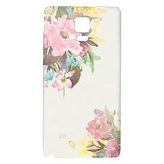 Vintage Watercolor Floral Galaxy Note 4 Back Case