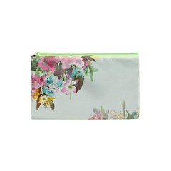 Vintage Watercolor Floral Cosmetic Bag (xs)