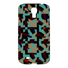 Distorted Shapes In Retro Colors Samsung Galaxy S4 I9500/i9505 Hardshell Case