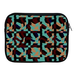 Distorted Shapes In Retro Colors Apple Ipad 2/3/4 Zipper Case