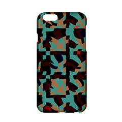 Distorted shapes in retro colors Apple iPhone 6 Hardshell Case
