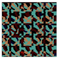 Distorted shapes in retro colors Satin Scarf