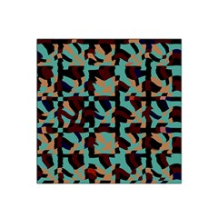 Distorted Shapes In Retro Colors Satin Bandana Scarf