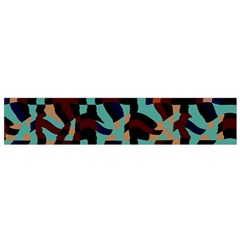 Distorted shapes in retro colors Flano Scarf
