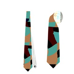 Distorted shapes in retro colors Necktie