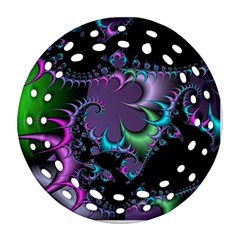 Fractal Dream Round Filigree Ornament (2side)
