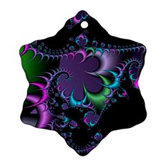 Fractal Dream Snowflake Ornament (2 Side)