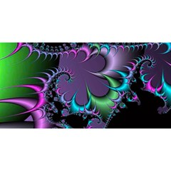 Fractal Dream You Are Invited 3d Greeting Card (8x4)