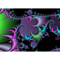 Fractal Dream Birthday Cake 3D Greeting Card (7x5)