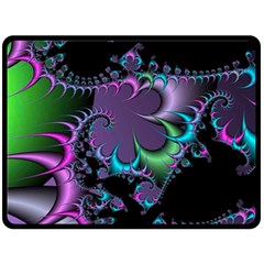 Fractal Dream Double Sided Fleece Blanket (Large)