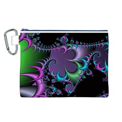 Fractal Dream Canvas Cosmetic Bag (L)