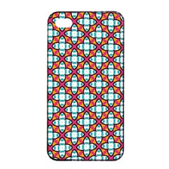 Cute Pretty Elegant Pattern Apple Iphone 4/4s Seamless Case (black)