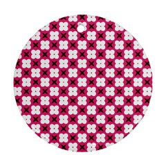 Cute Pretty Elegant Pattern Ornament (round)