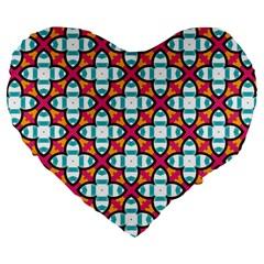 Pattern 1284 Large 19  Premium Flano Heart Shape Cushions