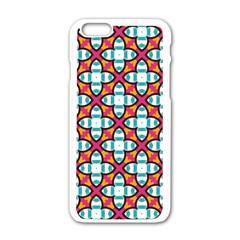 Pattern 1284 Apple Iphone 6 White Enamel Case
