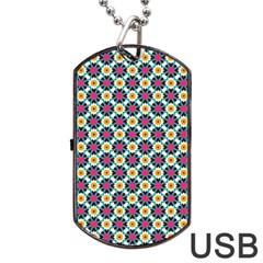 Pattern 1282 Dog Tag USB Flash (One Side)