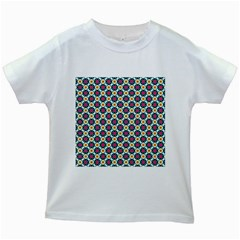 Cute Abstract Pattern Background Kids White T Shirts