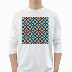 Cute abstract Pattern background White Long Sleeve T-Shirts