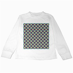 Cute abstract Pattern background Kids Long Sleeve T-Shirts