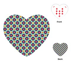 Cute abstract Pattern background Playing Cards (Heart)
