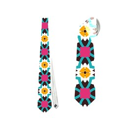 Cute abstract Pattern background Neckties (One Side)