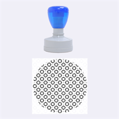 Cute abstract Pattern background Rubber Round Stamps (Medium)