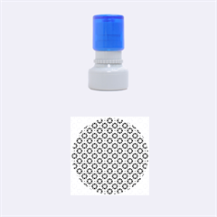 Cute abstract Pattern background Rubber Round Stamps (Small)