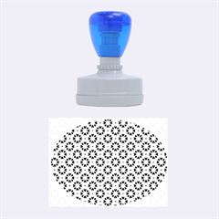 Cute Abstract Pattern Background Rubber Oval Stamps