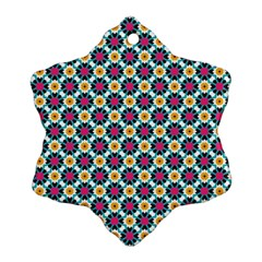 Cute Abstract Pattern Background Snowflake Ornament (2 Side)