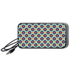 Cute Abstract Pattern Background Portable Speaker (black)