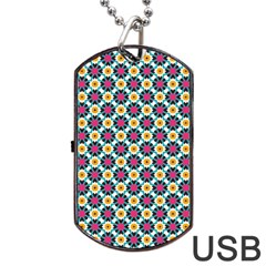 Cute Abstract Pattern Background Dog Tag Usb Flash (two Sides)