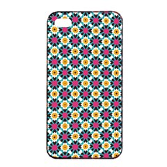 Cute abstract Pattern background Apple iPhone 4/4s Seamless Case (Black)