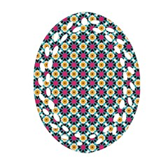 Cute abstract Pattern background Ornament (Oval Filigree)