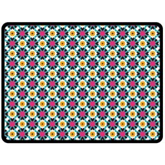 Cute Abstract Pattern Background Double Sided Fleece Blanket (large)