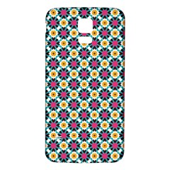 Cute abstract Pattern background Samsung Galaxy S5 Back Case (White)