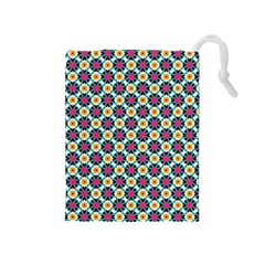 Cute Abstract Pattern Background Drawstring Pouches (medium)