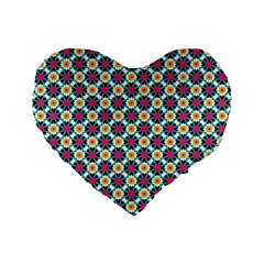 Cute abstract Pattern background Standard 16  Premium Flano Heart Shape Cushions