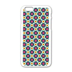Cute abstract Pattern background Apple iPhone 6 White Enamel Case