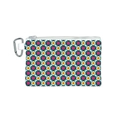 Cute abstract Pattern background Canvas Cosmetic Bag (S)