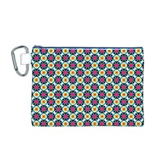 Cute abstract Pattern background Canvas Cosmetic Bag (M)
