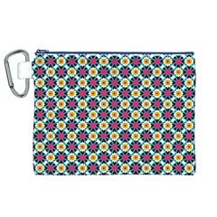 Cute abstract Pattern background Canvas Cosmetic Bag (XL)