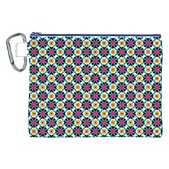Cute abstract Pattern background Canvas Cosmetic Bag (XXL)