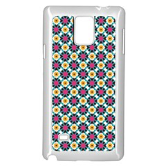Cute Abstract Pattern Background Samsung Galaxy Note 4 Case (white)