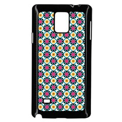 Cute abstract Pattern background Samsung Galaxy Note 4 Case (Black)