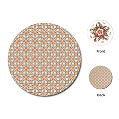 Cute Pretty Elegant Pattern Playing Cards (Round)