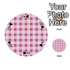 Cute Pretty Elegant Pattern Playing Cards 54 (Round)