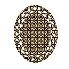 Cute Pretty Elegant Pattern Ornament (Oval Filigree)