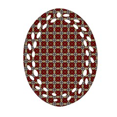 Cute Pretty Elegant Pattern Oval Filigree Ornament (2-Side)