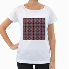 Cute Pretty Elegant Pattern Women s Loose-Fit T-Shirt (White)